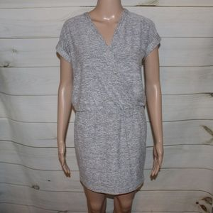 Lou & Grey Dresses - Lou & Grey Faux Wrap Jersey Gray Dress